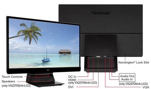 Jual Monitor LED Viewsonic 23? VX2370s