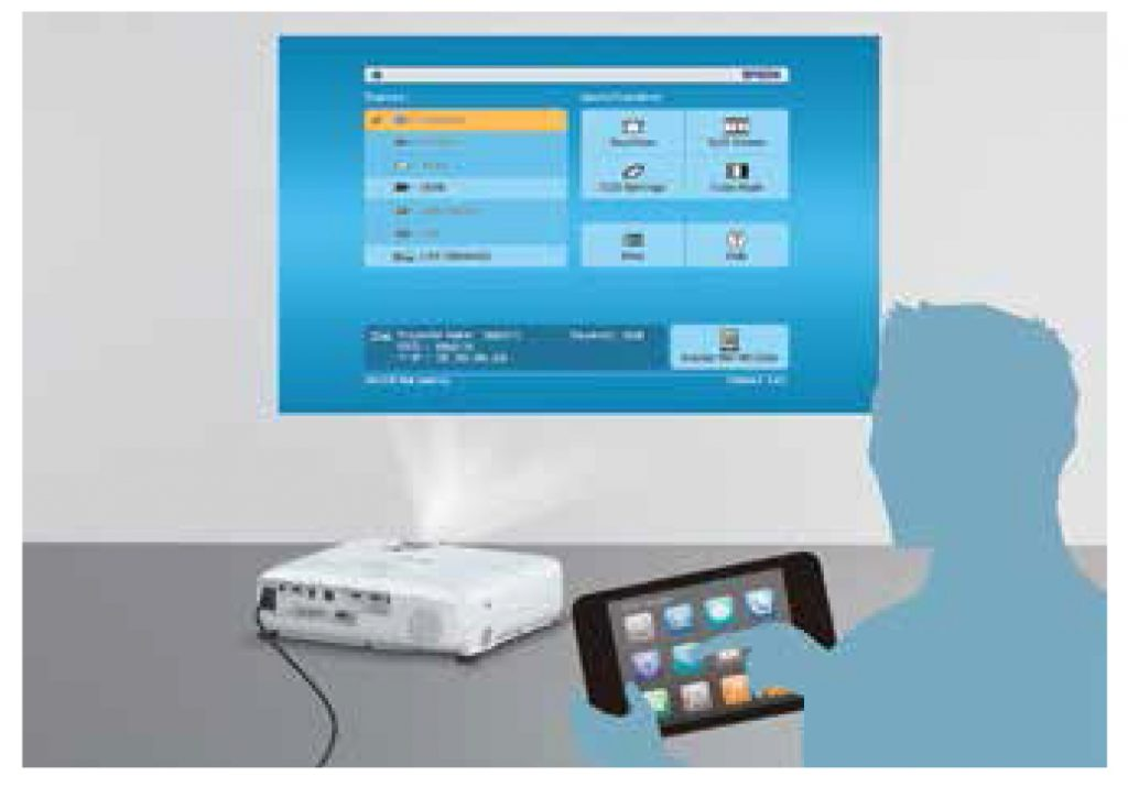 Epson EB-X400 home screen