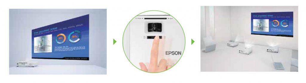 Epson EB S400 horizontal keystone